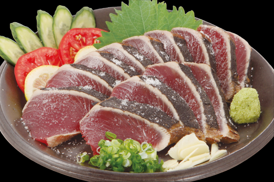 Katsuo-no-Tataki (Lightly Grilled Bonito)
